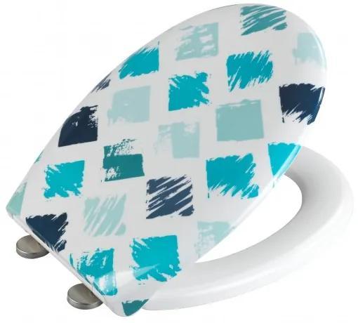 Capac toaleta din duroplast, Rhombus Multicolor, l37xA44,5 cm