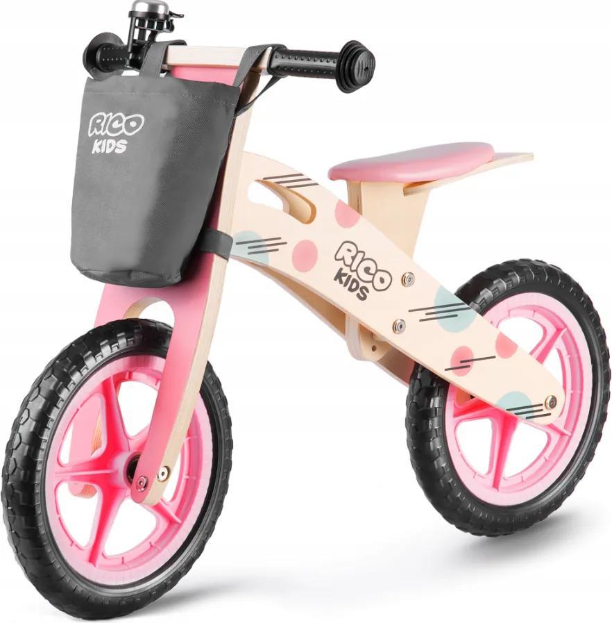 Bicicletă fără pedale din lemn Ricokids Nela