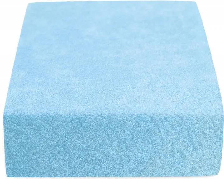 Cearșaf Terry 160 x 200 cm albastru deschis