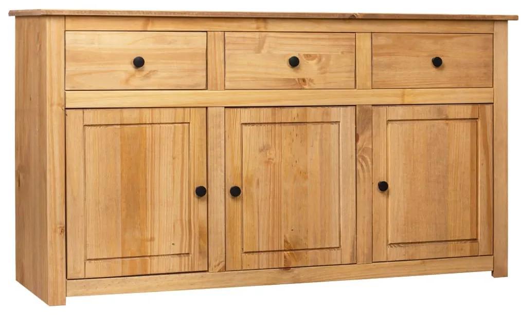 282703 vidaXL Servantă, 135x40x80 cm, lemn masiv pin, gama Panama