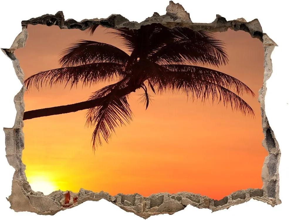 Autocolant gaură 3D Sunset beach