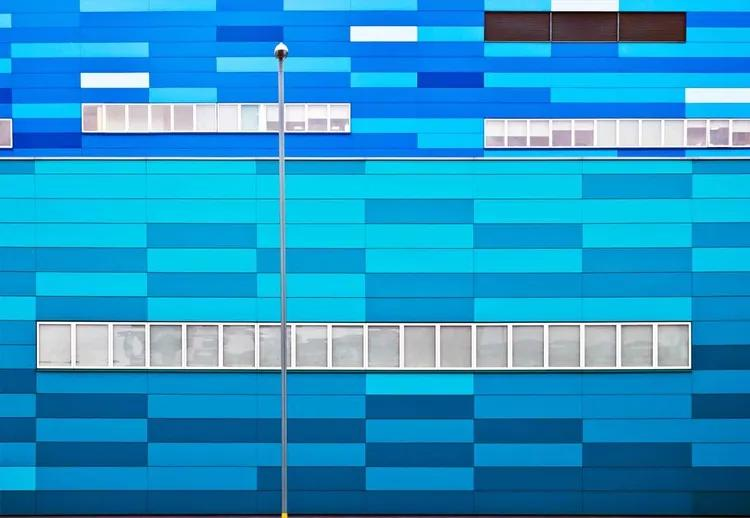 Fifty Shades Of Blue Fototapet, (368 x 254 cm)