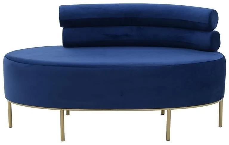 Canapea Blue Velvet 116 cm x 54 cm x 66 cm