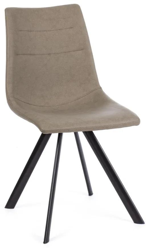 Scaun bej din imitatie piele Aliva Taupe Chair