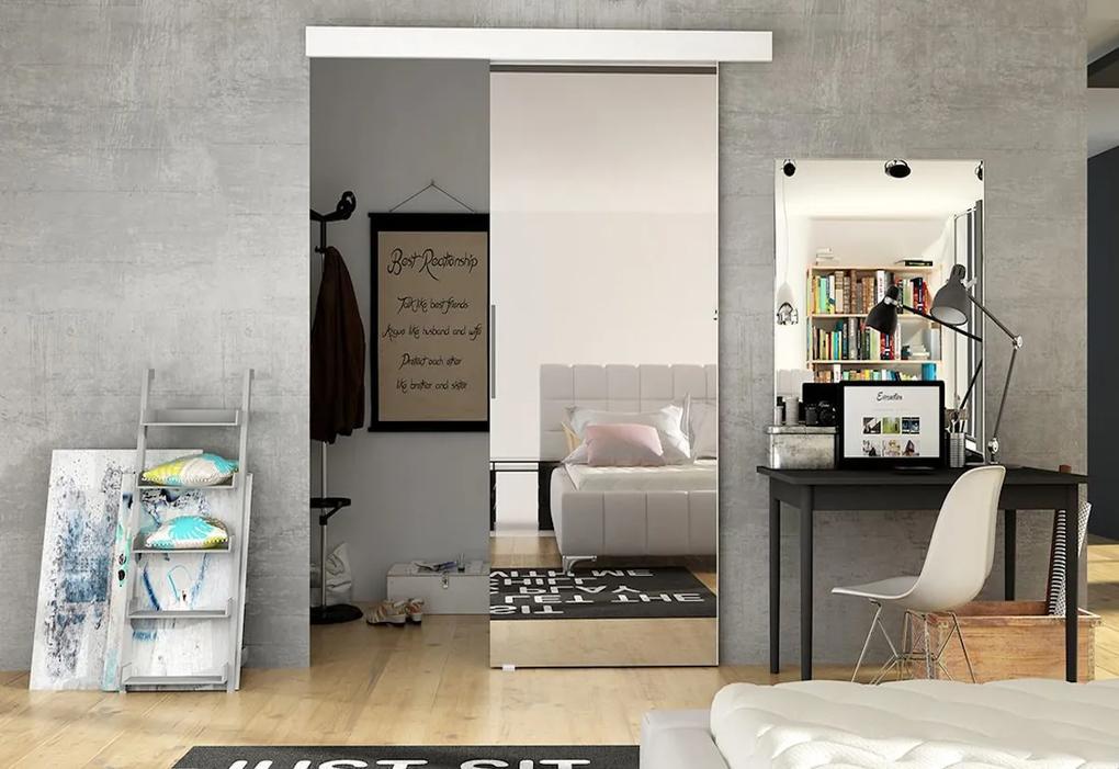 Expedo Ușă glisantă DOLANO II cu oglindă, 86,5x205, alb