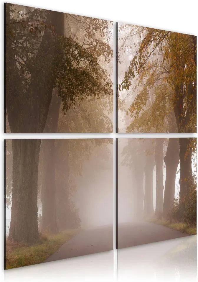 Tablou Bimago - Foggy alley 40x40 cm