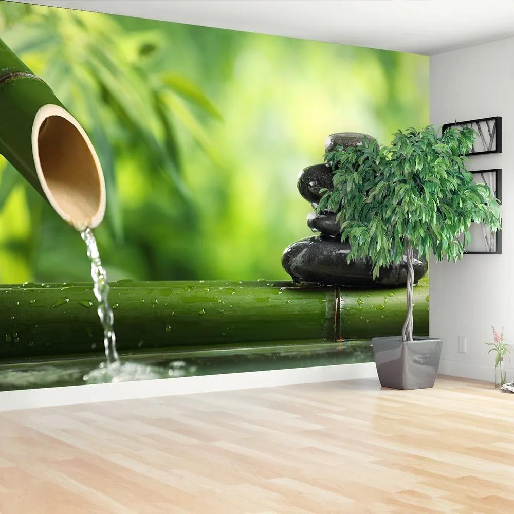 Fototapet Fântâna de bambus