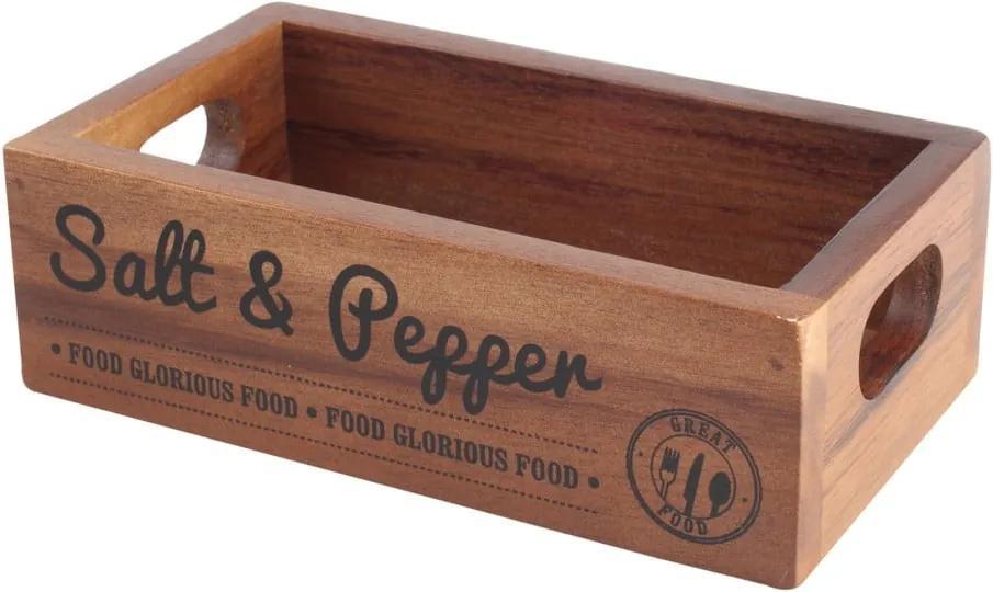Lădiță din lemn de salcâm pentru condimente T&G Woodware Inacacia