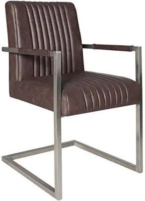 Set de 2 scaune Big Aston cafeniu