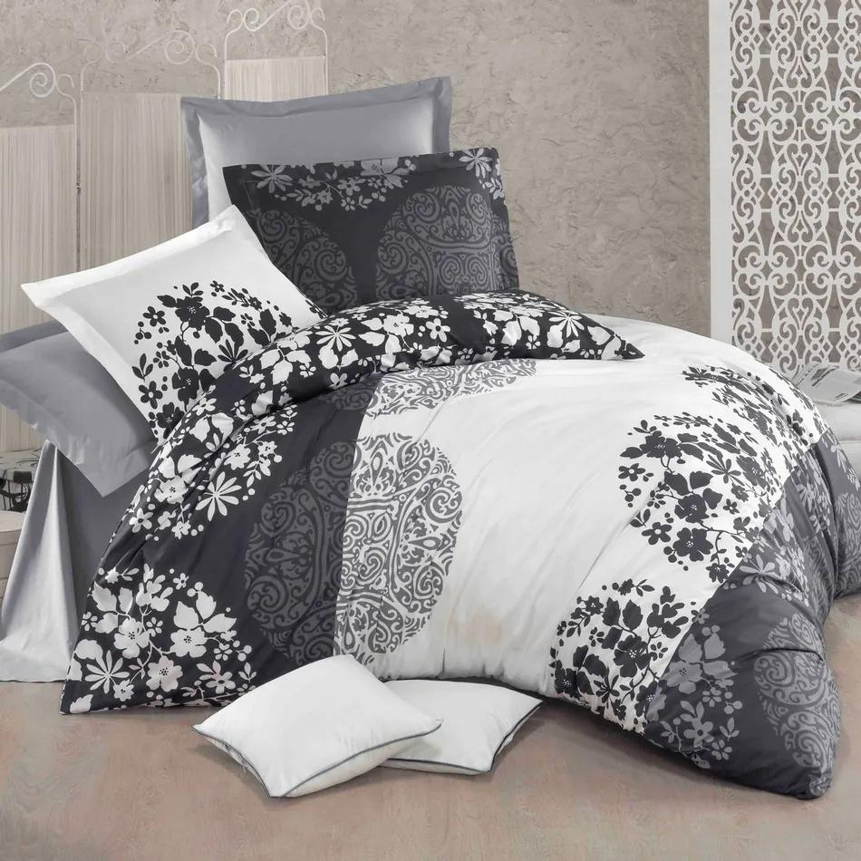 Lenjerie de pat din bumbac Delux Grey fields , 140 x 200 cm, 70 x 90 cm, 140 x 200 cm, 70 x 90 cm