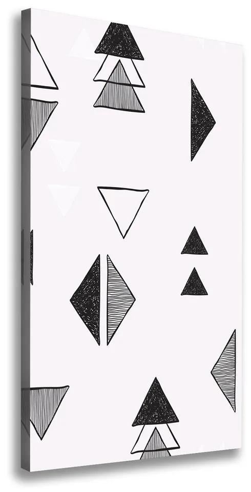 Tablou pe pânză Triunghiuri de fundal