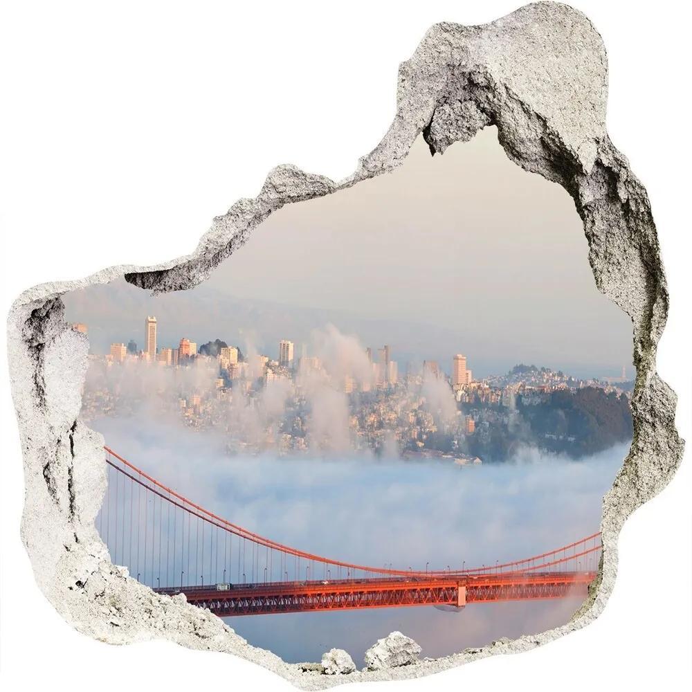 Fototapet 3D gaură în perete Podul din San Francisco