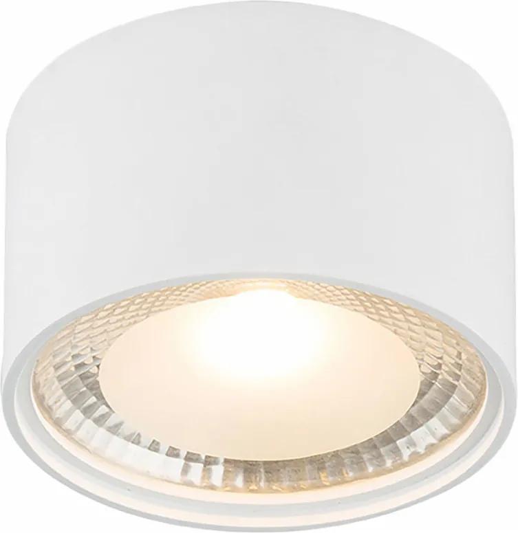 Spot LED Serena sticla/fier, alb, 1 bec, diametru 11 cm, 230 V