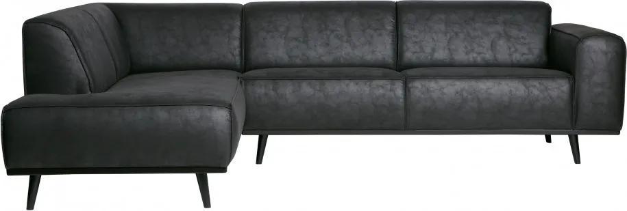 Canapea Statem pe stânga, 3 locuri, negru