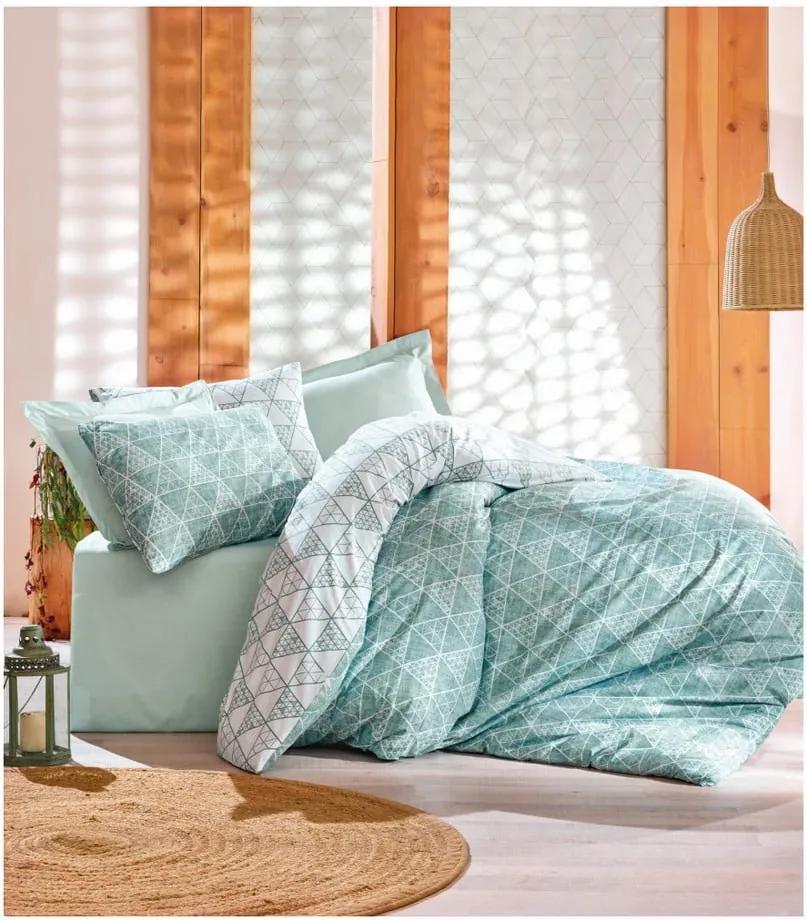 Lenjerie de pat cu cearşaf din bumbac Zorita, 200 x 220 cm
