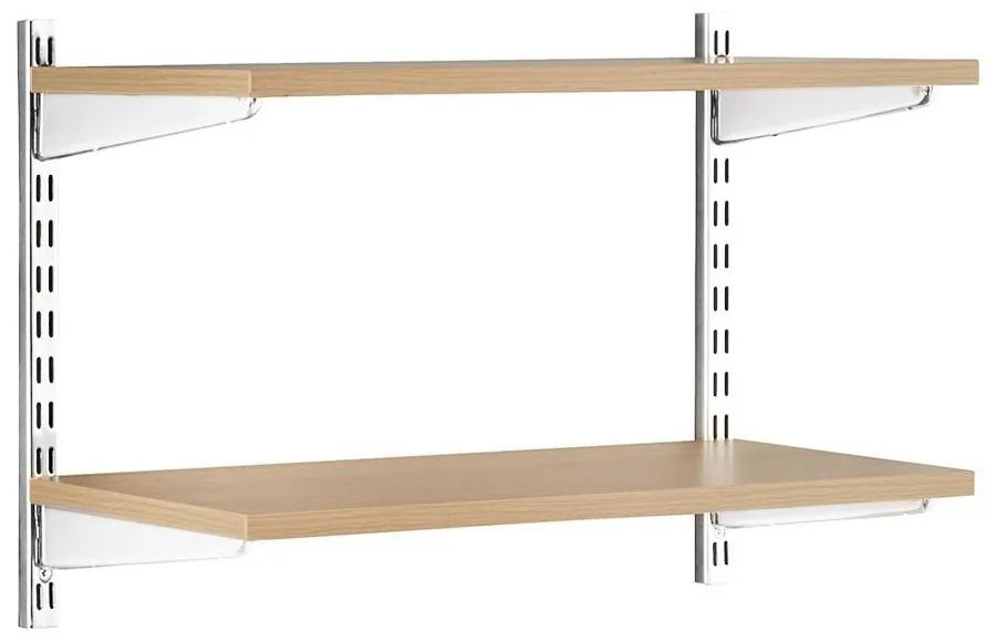 Raft modular Sigma 2P Stejar, 80x20x50 cm, Metal/PAL