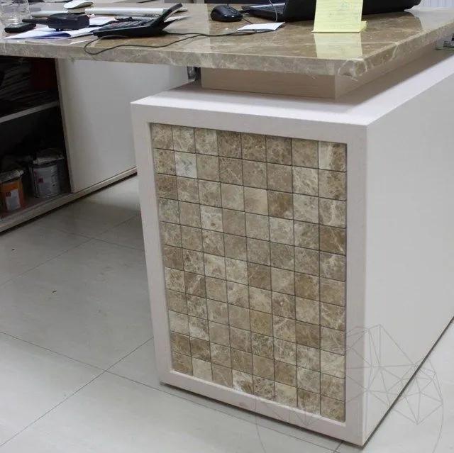 Mozaic Marmura Light Emperador Polisata 4.8 x 4.8 cm Produs Comanda Speciala