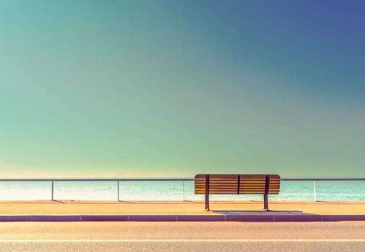 The Bench Fototapet, (254 x 184 cm)