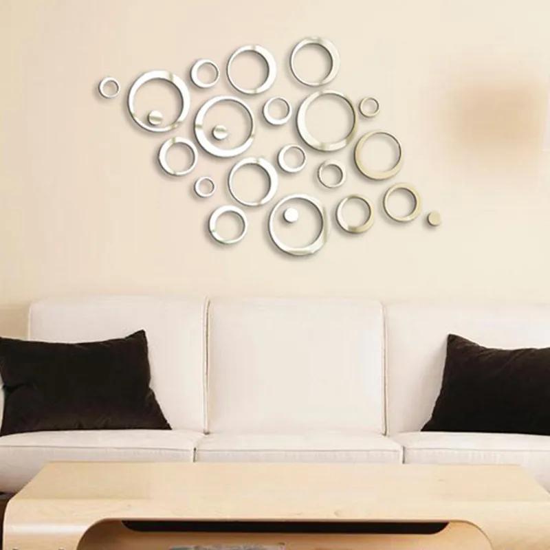Sticker acrilic 3D Circle Mirror Silver