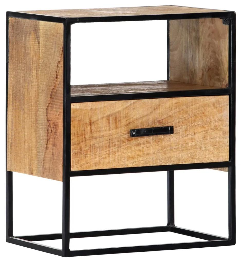 247740 vidaXL Noptieră, 40 x 30 x 50 cm, lemn masiv de mango
