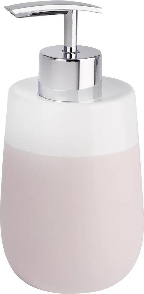 Dispenser pentru sapun lichid, Wenko Malta, Roz