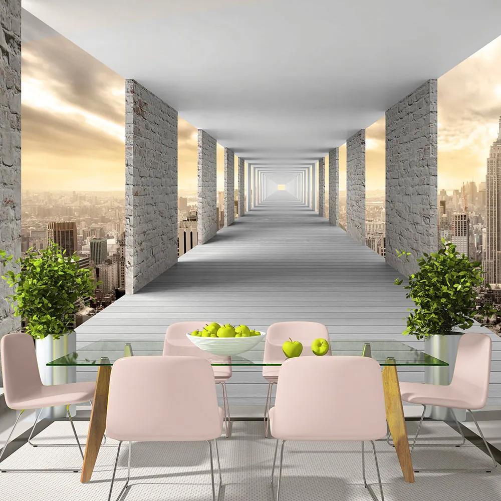 Fototapet Bimago - Skyward Corridor + Adeziv gratuit 300x210 cm