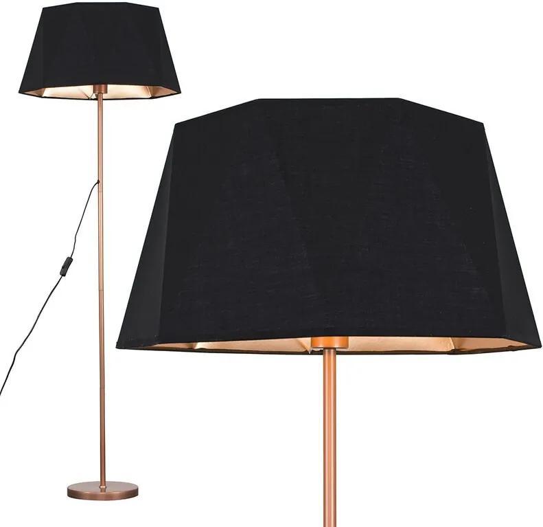 Lampadar Bekbele Toke, negru / cupru, 149 x 46 cm