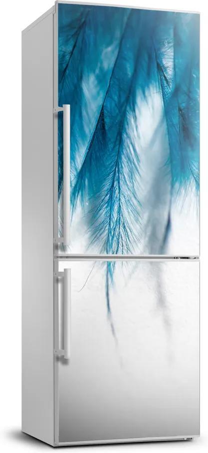Foto Autocolant pentru piele al frigiderului Pene albastre