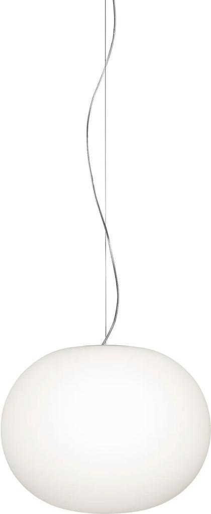 Glo-Ball 2 - Pendul alb din sticlă