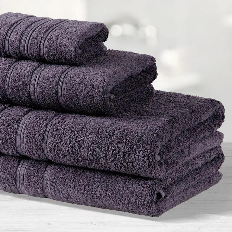 Goldea prosoape de mâini și prosoape de baie din terry lara - gri-violet închis 50 x 100 cm