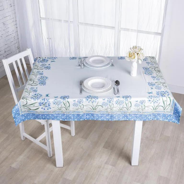 Faţă de masă albastră ALBĂSTREA 120 x 140 cm
