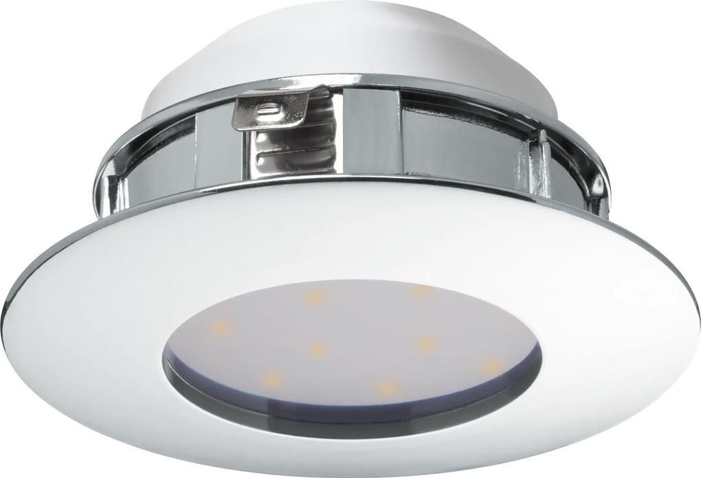 Spot incastrat PINEDA, 95818, LED, 6W, Ø 78, 500 Lumeni, 3000 K (Calda), Plastic / Crom
