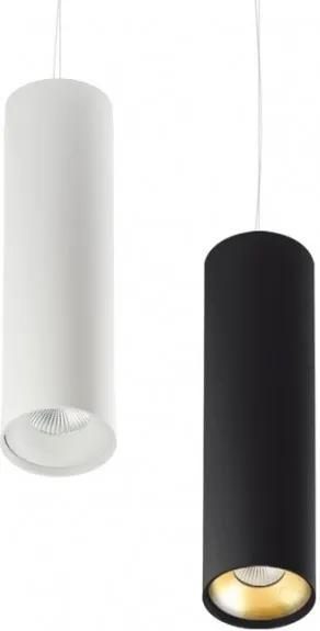 Tube 185 Negru - Proiector pe șină suspendat cilindric din aluminiu