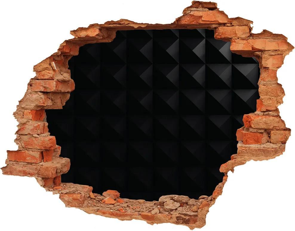 Autocolant un zid spart cu priveliște Abstracție de fundal