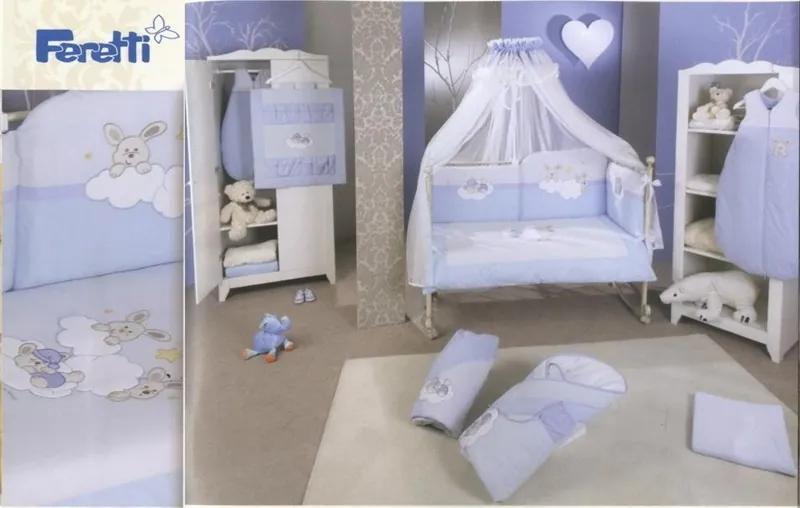 Lenjerie de pat Feretti Duetto Rabbit Blue