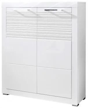 Cabinet din MDF cu 2 usi, Lifence Alb, l92xA37xH111 cm