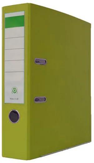 Biblioraft plastifiat PP/H 8 cm verde praz