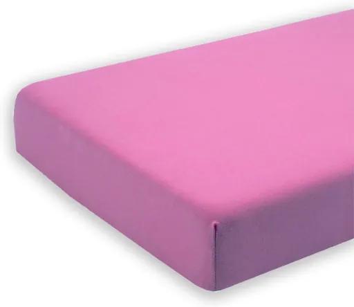 Cearceaf mov cu elastic pentru saltea 80 x 160 cm
