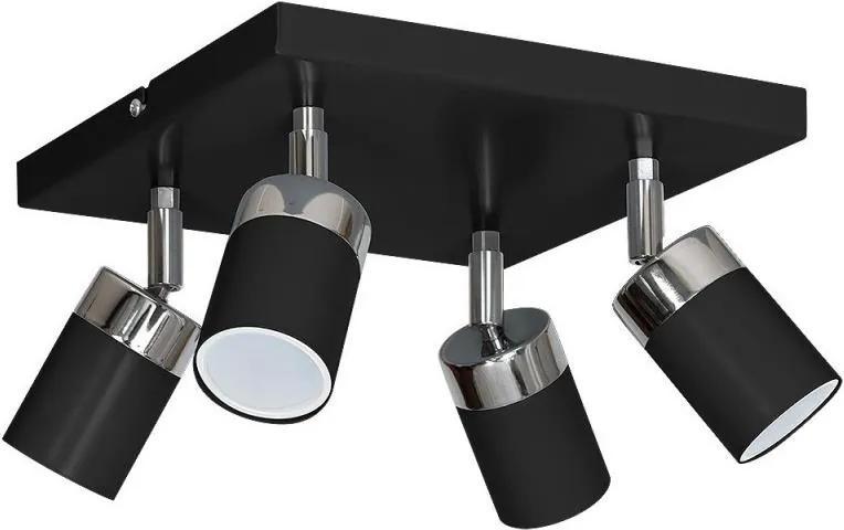 Lampa spot JOKER 4xGU10/25W/230V negru