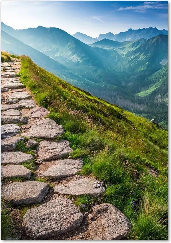 Tablou pe acril Traseu de munte