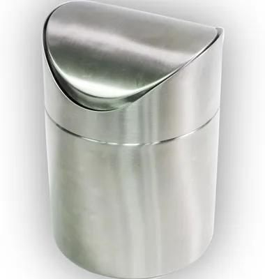Cos de gunoi cu capac batant Piccante, 1L, crom mat