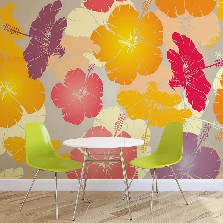 Flowers Abstract Fototapet, (368 x 254 cm)