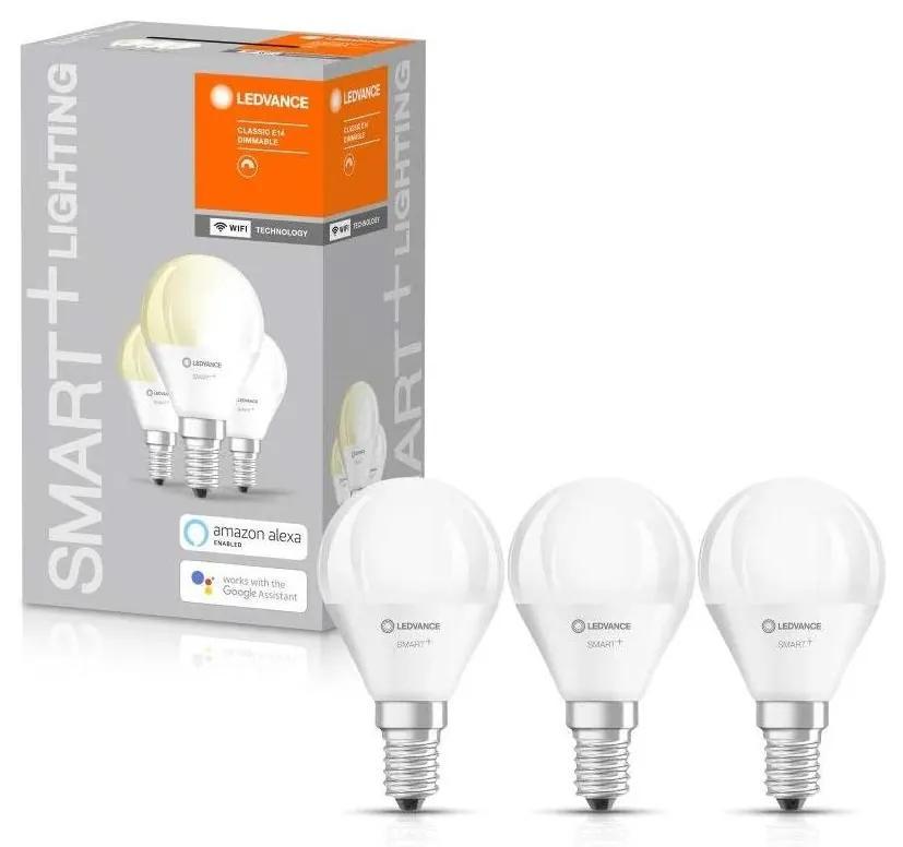 SET 3x Bec de iluminat cu LED SMART + E14/5W/230V 2.700K - Ledvance