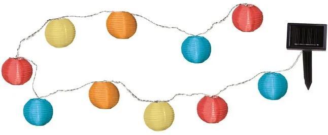 Instalatie de gradina cu lampioane, multicolor