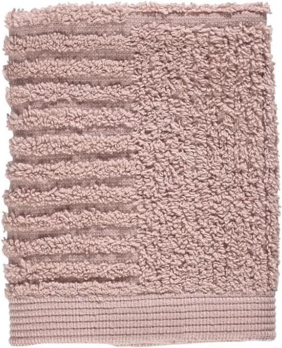 Prosop din bumbac 100% pentru față Zone Classic, 30 x 30 cm, roz deschis
