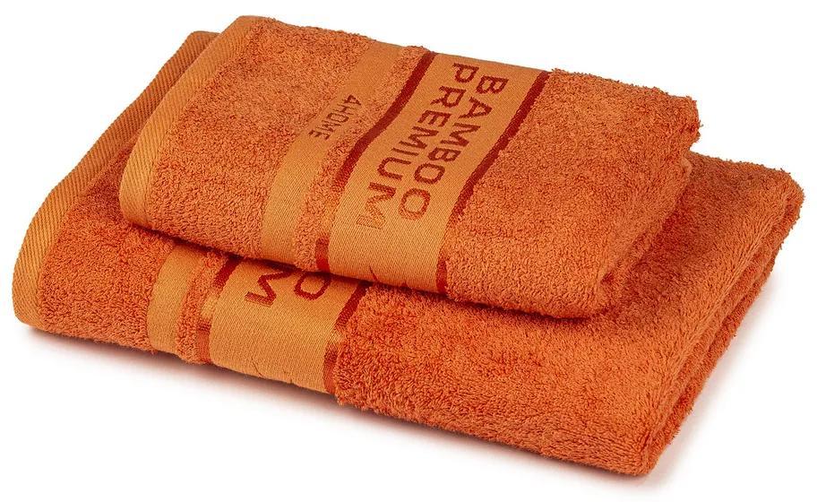 Set prosoape 4Home Bamboo Premium portocaliu