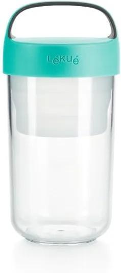 Recipient cu capac turcoaz pentru supă Lékué To Go, 600 ml