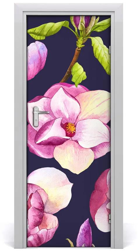 Autocolante pentru usi Furnir adeziv imagini de fundal ușă Magnolia