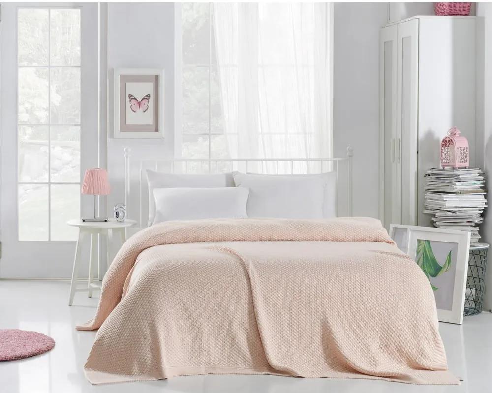 Cuvertură ușoară Silvi, 220 x 240 cm, roz deschis