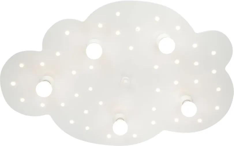 Plafoniera Wolke 5/40 lemn, alb, 5 becuri, 230 V